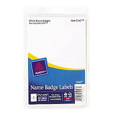 avery self adhesive name badges plain white 2 labels per 4 x 6