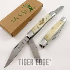 folding kitchen knives folding pocket knife elk ridge gentleman u0027s trapper double blade