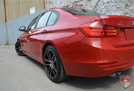 red bmw 328i 3 series gwg wheels