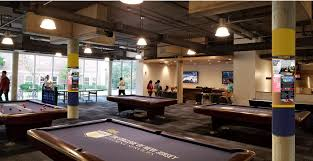 life size pool table game room brower student center
