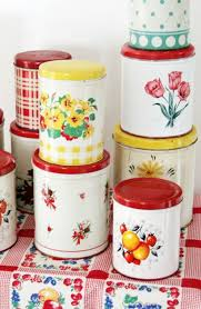 vintage kitchen canister colorful vintage kitchen tins i used to lots of these now i