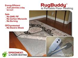 rugbuddy portable in rug heating systems silent safe