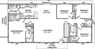 4 bedroom ranch floor plans roosevelt iv by wardcraft homes ranch floorplan