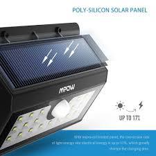 mpow solar light instructions mpow 20 led solar lights super bright outdoor waterproof sensor