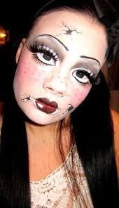 Marionette Doll Halloween Costume Cracked Porcelain Doll Makeup Halloween Makeup