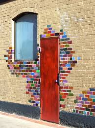 painting bricks around your front door is a great way to express