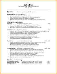 Truck Driver Resume Example by Forklift Driver Resume Sample Gallery Creawizard Com