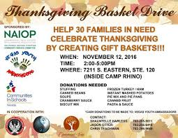 naiop southern nevada community service thanksgiving basket
