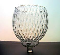 home interiors diamond optic pegged votive candle cup clear brand