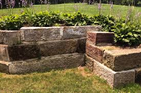 using barn foundation stone in the landscape thinking outside