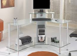 desk furniture wonderful glass corner desks with round area rugs