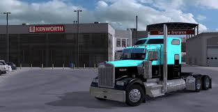 w900 kenworth w900 light blue black mod ats mod american truck