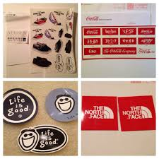 preppy jeep stickers sperry coca cola life is good the north face u2013 free stcikers