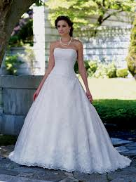 strapless lace wedding dress ball gown naf dresses