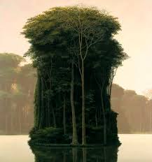 landscape paintings by tomas tree island painting