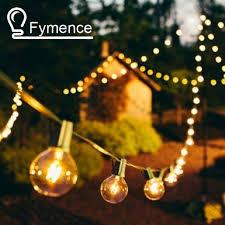 Clear Patio Lights Aliexpress Buy 4x 25 Ft Clear Globe G40 String Lights Set