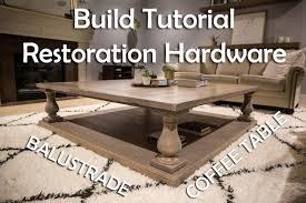 Restoration Hardware Coffee Table Diy Restoration Hardware Balustrade Coffee Table Paul Diy