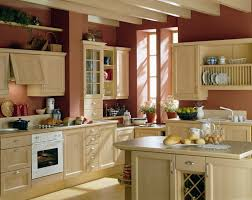 small kitchen makeovers plan with cream kitchen cabinety features