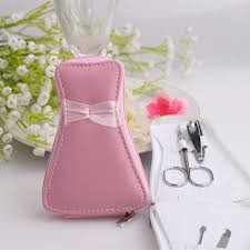 manicure set favors pink dress purse manicure set wedding favors ewfs013 as low as 3 67