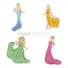 collection of fashion model sketches vector image 2003014