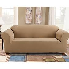 one piece stretch sofa slipcover sure fit simple stretch subway tile 1 piece sofa slipcover bed