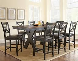 Silver Dining Room Chairs by Steve Silver Violante Two Tone Brown Black Counter Table With X