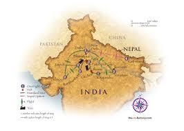 Map Of Nepal India by India 2 Amazing Journeys