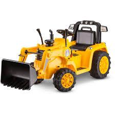 kidtrax cat bulldozer tractor 6v battery powered ride on yellow