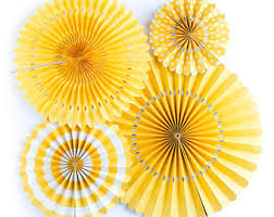 Pinwheel Decorations Yellow Pinwheels Etsy