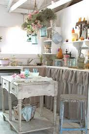 Shabby Chic Skirts by Rustic Shabby Chic Kitchen With Burlap Sink Skirt Shabby Chic