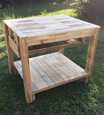 Wood Kitchen Island Table by Reclaimed Pallet Kitchen Island Table