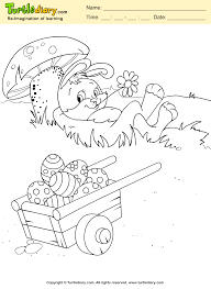 easter rabbit coloring sheet turtle diary