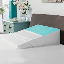 Wedge Pillows For Bed Swisslux Bed Wedge Pillow With Cooling Gel Coated Memory Foam