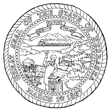 great seal of the state of nebraska kids stuff coloring page