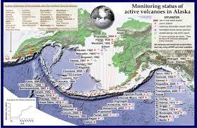 Alaska And Russia Map by Avo Image 14033 Akutan Aniakchak Atka Augustine Bogoslof