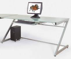 Modern Glass Desk With Drawers Office Desk Glass Top Writing Desk Glass Desk With Storage Glass