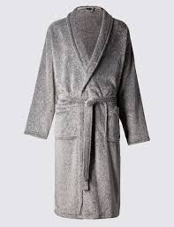 supersoft fleece dressing gown m s