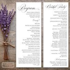 layout of wedding ceremony program printable traditional wedding program in popular tea length format