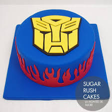 transformer birthday cake transformers cake for eight pinteres