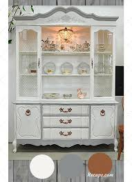 china cabinet painted white grey copper colors painted with