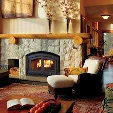 montecito estate wood fireplace