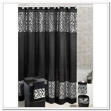 Silver Black Curtains Stunning Black Silver Shower Curtain Photos Bathroom With