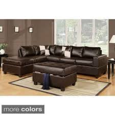 leather sectional sofas for less overstock com
