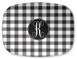 personalized serving platters personalized serving platter single initial circle by clairebella