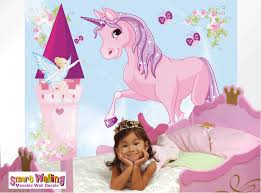 unicorn fairy mural wall stickers totally movable unicorn mural room gif
