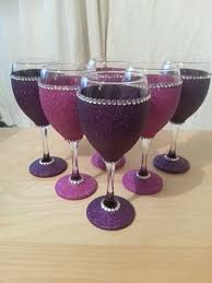 Glitter Stem Wine Glasses Perfect For Parties
