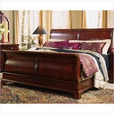 cherry wood sleigh bed set u2014 suntzu king bed history of cherry
