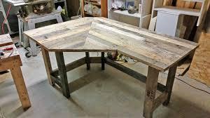 Corner Wood Desk Pallet Wood Corner Desk Got Wood Workshop