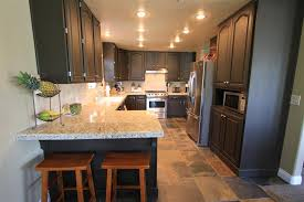 How To Update Old Kitchen Cabinets Kitchen Chic Kitchen Model With Long Counter Size And Amusing