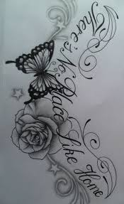 images of roses and butterfly tattoos butterfly chest